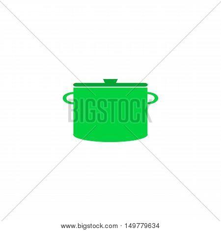 Pot Icon Vector. Flat simple color pictogram
