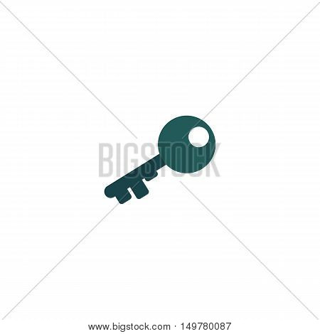 Key Icon Vector. Flat simple color pictogram
