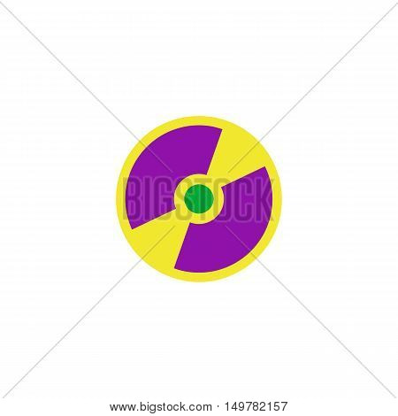 Disk Icon Vector. Flat simple color pictogram