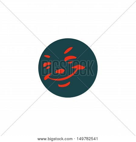 Smile Icon Vector. Flat simple color pictogram