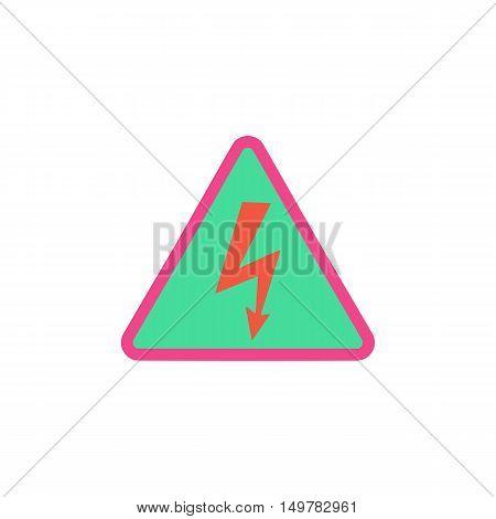 Electrocution Icon Vector. Flat simple color pictogram
