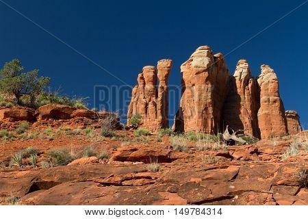 The Cathedral Rock summit near Sedona, Arizona