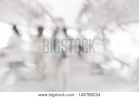 Interior blurred background with bokeh image / White blur background / grey abstract background