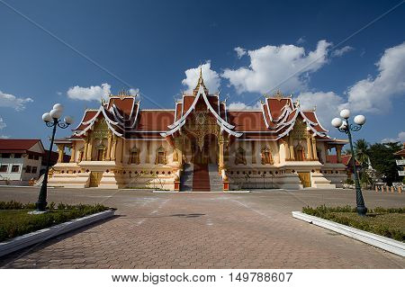Beautiful Temple (Wat Pha That Luang ), Vientiane, Laos