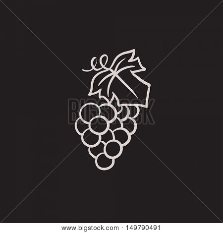 Grape vector sketch icon isolated on background. Hand drawn Grape icon. Grape sketch icon for infographic, website or app.