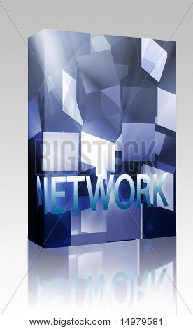 Software package box Network data structures networking web information architecture illustration