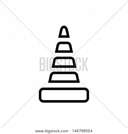 cone icon stock vector illustration flat design