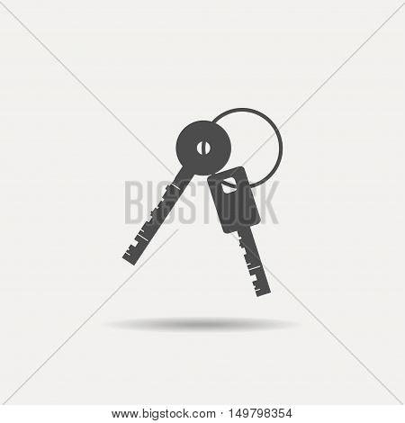 Keys Icon. Vector keys Icon. Two keys on white background