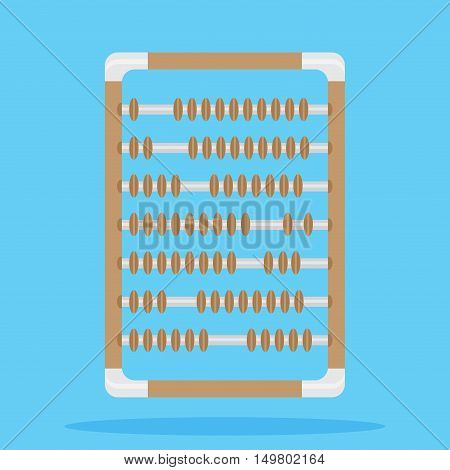 Retro vintage abacus. Calculator for counting abacus isolated vector illustration