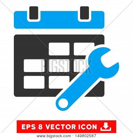 Blue And Gray Timetable Options EPS vector pictograph. Illustration style is flat iconic bicolor symbol on a white background.