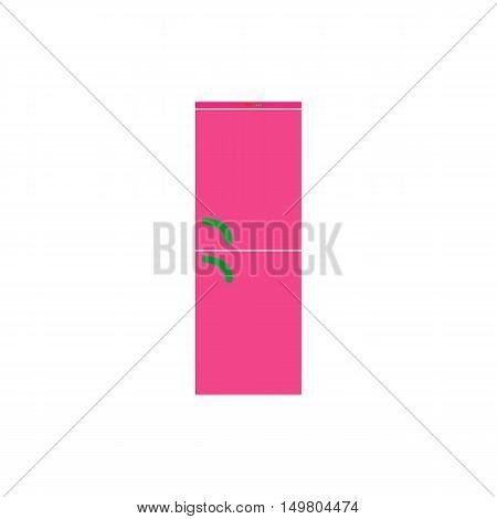 Refrigerator Icon Vector. Flat simple color pictogram