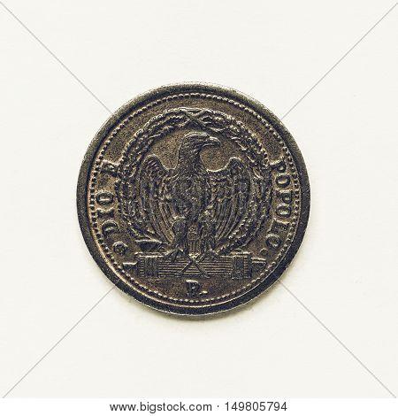 Vintage Old Italian Coin 3 Baiocchi