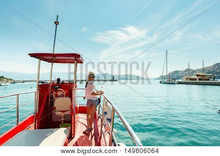 Boat trip on the sea