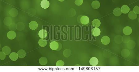 green christmass light bokeh background or texture