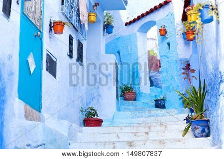 Chefchaouen blue Medina in Morocco, North Africa