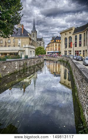 Riverfront Eaton in the French city of Evreux in Normandie.