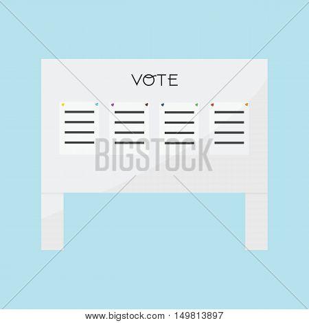 Voting Billboard 4 paper vote of vector ESP10