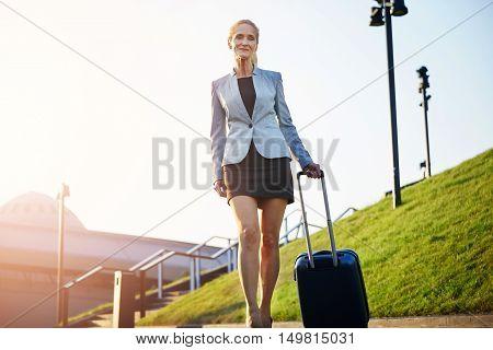 Elegant Confident Businesswoman On Business Trip
