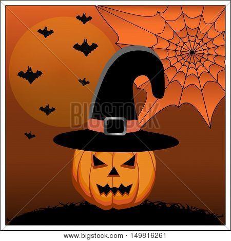 The yellow pumpkin halloween celebration decoration holiday