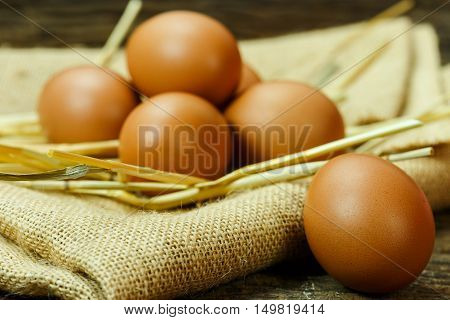 still life fresh egg on old wood raw ingredient fresh egg prepare for cook and chicken egg