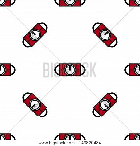 Bomb flat icon pattern. Military equipment icons. Vector illustration. Elements for design.