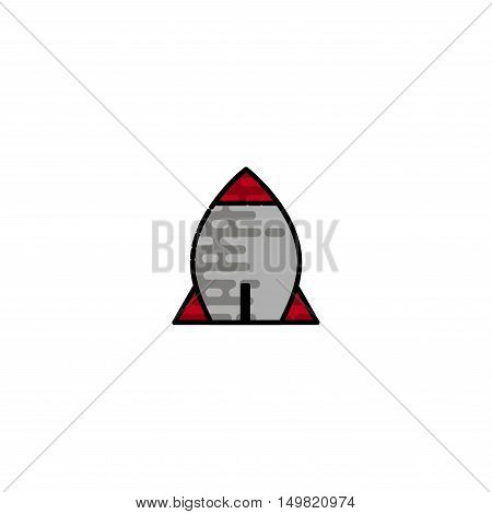Bomb flat icon. Military equipment icons. Vector illustration. Elements for design.