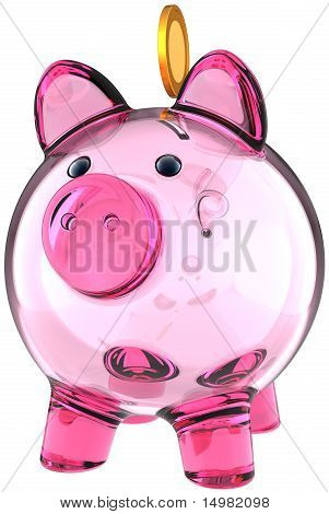 Piggy bank made from glass