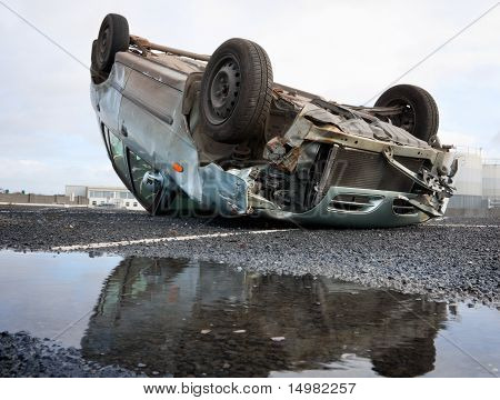 Car Turned Upside-down