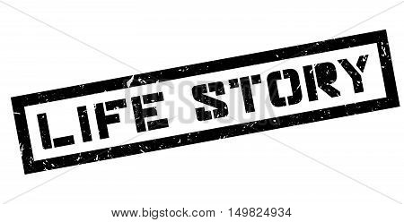 Life Story Rubber Stamp