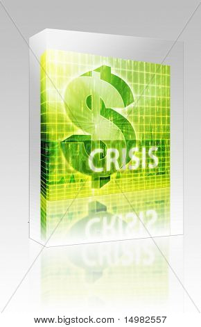 Software package box Software package box Crisis Finance illustration, dollar symbol over financial design