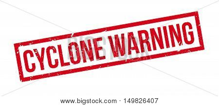 Cyclone Warning Rubber Stamp