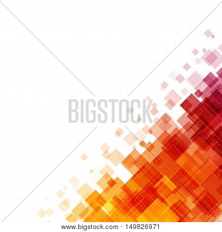Abstract Geometric Squares Lines Vector Background.