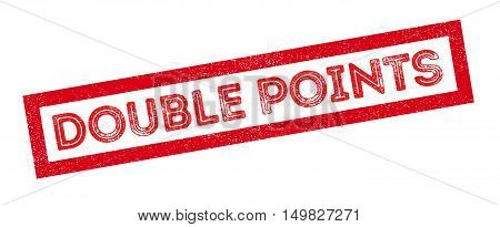 Double Points Rubber Stamp