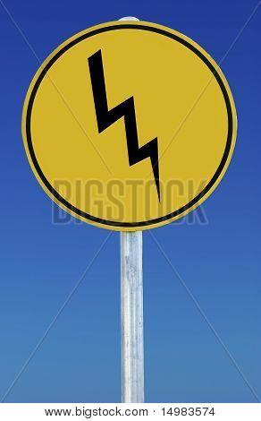 Lightning Bolt Sign