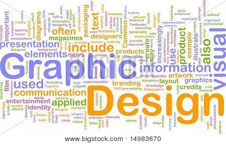 Ilustración del concepto de fondo de diseño gráfico visual