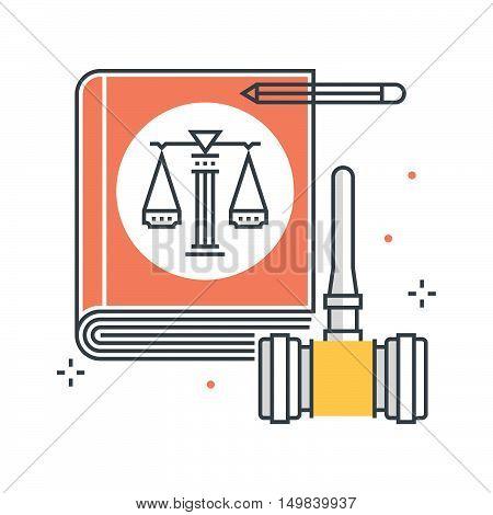 Law Book Illustration