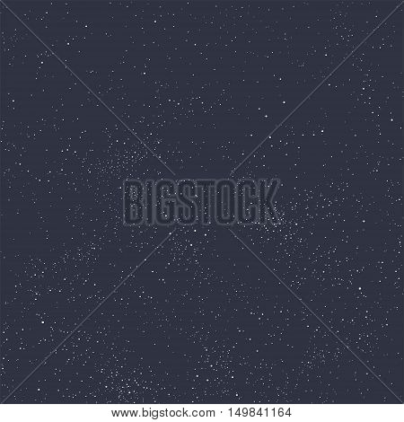 Universe filled with stars. Blue starry sky vector background