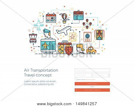 Air Transportation Travel Concept