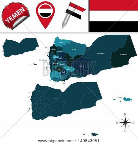 Map Of Yemen With Governorates