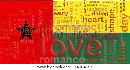 Flag of Guinea Bissau, national country symbol illustration love romance