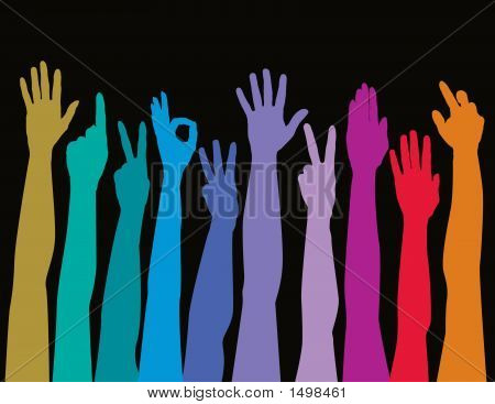 Hands Of All Races Rainbow