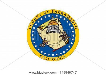 Flag of Sacramento County in California state United States