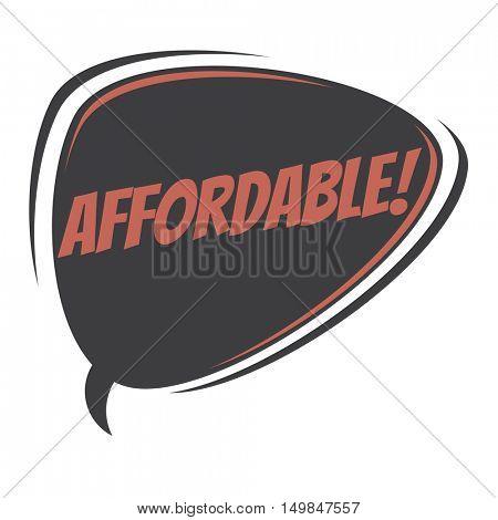 affordable retro speech balloon