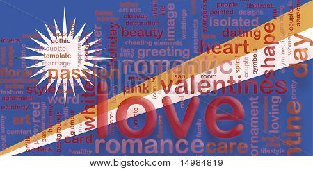 Flag of Marshall Islands, national country symbol illustration love romance
