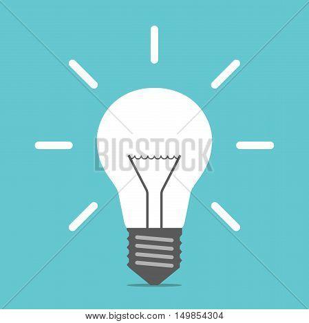 Bright Glowing Light Bulb
