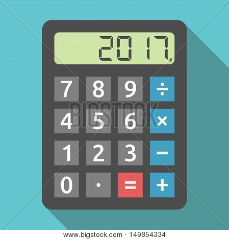 Calculator Showing 2017 Year