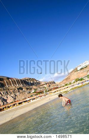 Boy At Amadores Beach, Gran Canaria