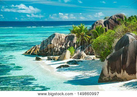 Beautiful Beach Of Seychelles