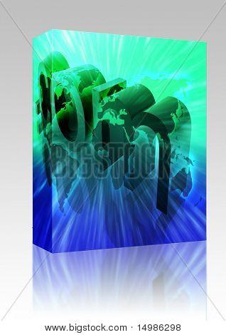 Paquete de software en todo el mundo ilustración del url del internet web de sitio web del Dot com