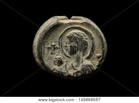 Ancient Post Seal With Saint Image On It